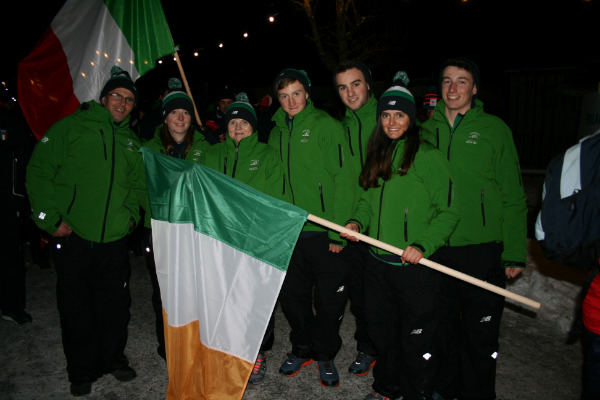 Flagbearer for Team Ireland EYOF 2015