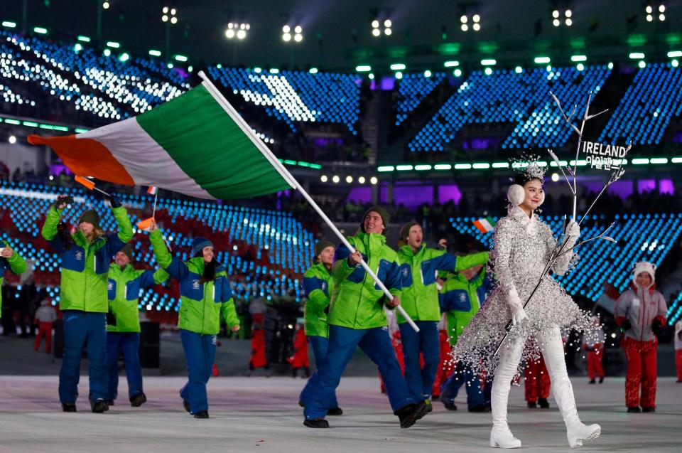 Team Ireland Olympics Opening Ceremony
