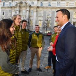 With Irish Prime Minister Leo Varadkar