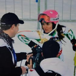 Interview time in St Moritz